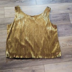 R & M Richards gold shimmery top